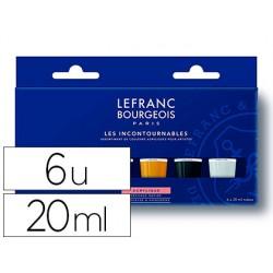 Pintura acrilica l&b fine set los imprescindibles caja de 6 colores surtidos tubo de 20 ml