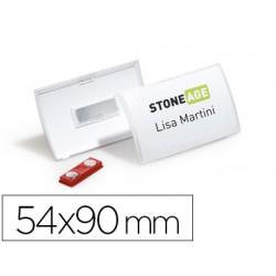 Identificador portanombre durable polipropileno sujecion iman 54x90 mm