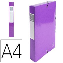 Carpeta de proyecto exacompta iderama carton lustrado plastificado din a4 lomo 60 mm violeta