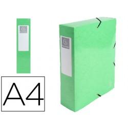 Carpeta de proyecto exacompta iderama carton lustrado plastificado din a4 lomo 80 mm verde anis