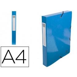 Carpeta de proyecto exacompta iderama carton lustrado plastificado din a4 lomo 40 mm azul claro