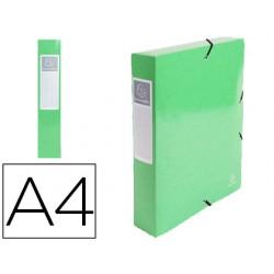 Carpeta de proyecto exacompta iderama carton lustrado plastificado din a4 lomo 60 mm verde anis