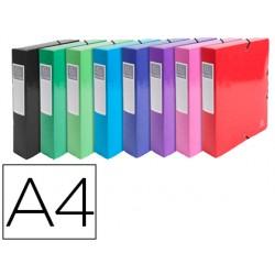 Carpeta de proyecto exacompta iderama carton lustrado plastificado din a4 lomo 80 mm colores surtidos