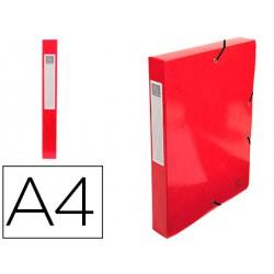 Carpeta de proyecto exacompta iderama carton lustrado plastificado din a4 lomo 40 mm rojo