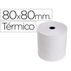 Rollo sumadora exacompta termico 80 mm x 80 mm 55 g/m2 sin bisfenol a