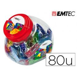 Memoria usb emtec flash 32gb 2.0 bombonera 80 unidades colores surtidos