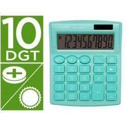 Calculadora citizen sobremesa sdc-810 nrgne 10 digitos 124x102x25 mm verde