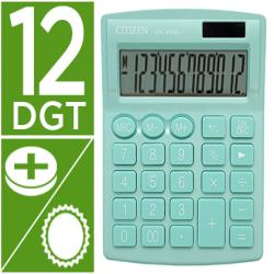 Calculadora citizen sobremesa sdc-812nrgne eco eficiente solar y a pilas 12 digitos 124x102x25 mm verde