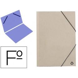 Carpeta mariola gomas folio 3 sencilla carton ecologico color gris