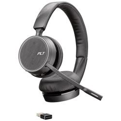 Auricular plantronics voyager 4220 uc biaural con microfono usb-a