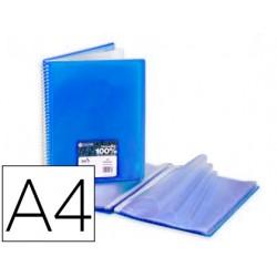 Carpeta carchivo archivex star escaparate con espiral 40 fundas din a4 azul