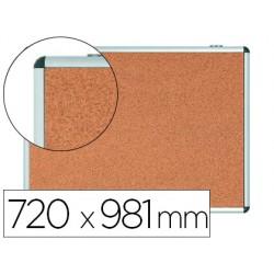 Vitrina de anuncios bi-office fondo corcho de interior marco de aluminio 720x981 mm