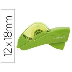 Portarrollo q-connect automatico plastico verde para cintas de 12 y 19 mm incluye 2 cintas