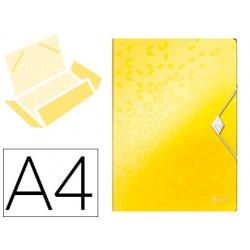 Carpeta leitz wow gomas solapas polipropileno din a4 color amarillo