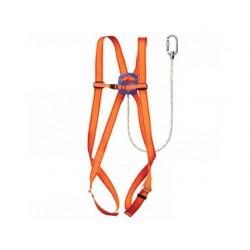 Arnes faru proteccion anticaidas basico con cuerda incorporada de 1 m de largo