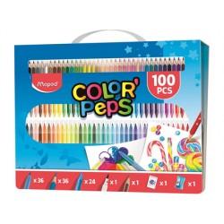 Estuche pintura maped color peps kit 100 piezas surtidas