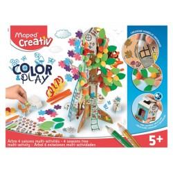 Juego maped educativo creativ color&play arbol 4 estaciones