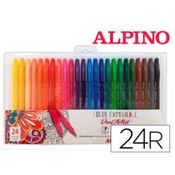Rotulador alpino dual artist color experience estuche de 24unidades colores surtidos