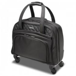 """Maletin para portatil kensington con ruedas señora contour 2.0 executive bal spinner 15,6"""" negro / rosa"""