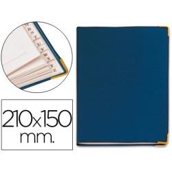Listin telefonico tapa flexible tamaño 21x15 cm -con cantonera dorada