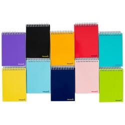 Cuaderno espiral liderpapel bolsillo octavo apaisado smart tapa blanda 80h 60gr cuadro 4mm colores surtidos