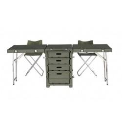 Valise de bureau pliante avec tiroirs, bureau de campagne