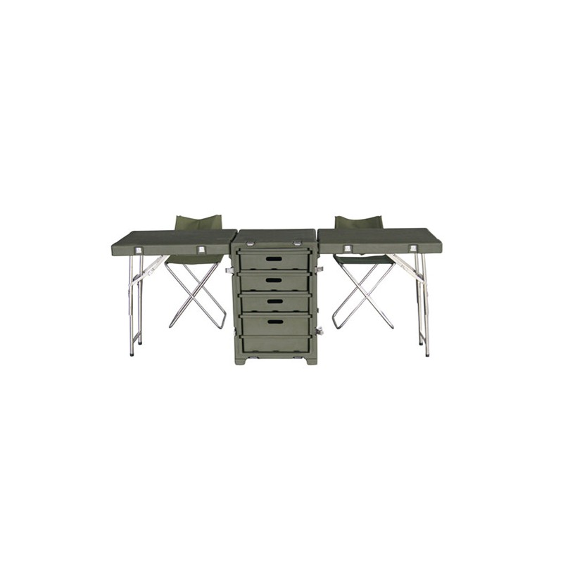 Folding desk suitcase with drawers, campaign desk