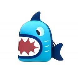 Cartera escolar liderpapel mochila infantil tiburon 280x240x100 mm