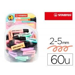 Rotulador stabilo boss fluorescente 70 pastel expositor bombonera de 60 unidades colores surtidos