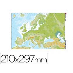 Mapa mudo color din a4 europa -fisico