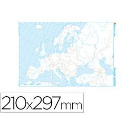 Mapa mudo b/n din a4 europa -politico
