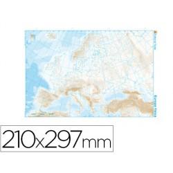 Mapa mudo b/n din a4 europa -fisico