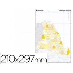 Mapa mudo color din a4 cataluña politico