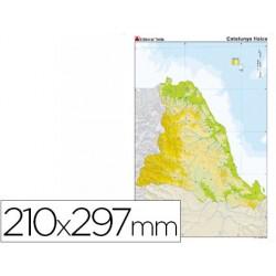 Mapa mudo color din a4 cataluña fisico