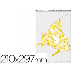 Mapa mudo color din a4 madrid politico