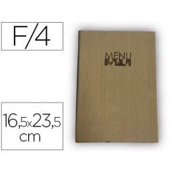 Porta menus liderpapel pu 16,5 x 23,5 cm con 4 fundas