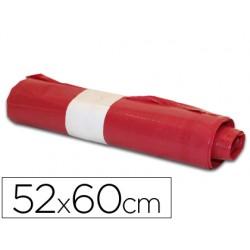 Bolsa basura domestica roja 52x60cm galga 70 rollo de 20 unidades