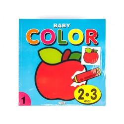 Cuaderno de colorear baby color 96 paginas 210x210 mm