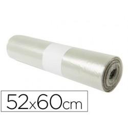Bolsa basura domestica translucida 52x60cm galga 70 rollo de 20 unidades