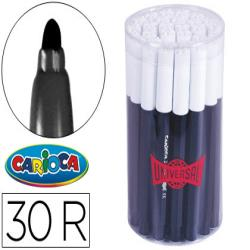 Rotulador carioca jumbo negro punta gruesa -bote de 30 unidades