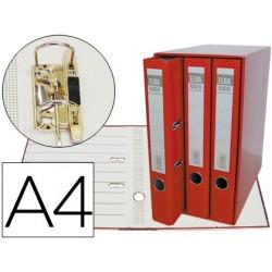 Modulo elba 3 archivadores de palanca din a4 2 anillas rojo lomo de 50 mm
