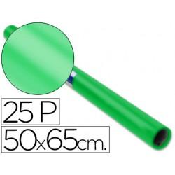 Papel charol rollo verde -25 hojas de 50x65 cm