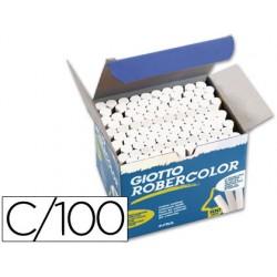 Tiza blanca antipolvo robercolor -caja de 100 unidades