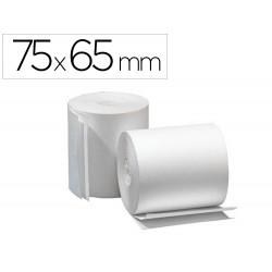 Rollo sumadora electro 75 mm ancho x 65 mm diametro -copiativo con dos hojas sin bisfenol a