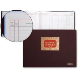 Libro miquelrius n. 13 folio apaisado 100 hojas -registro de socios
