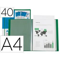 Carpeta liderpapel personaliza 20 fundas canguro polipropileno din a4 verde translucido portada y lomo
