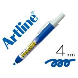 Rotulador artline clix fluorescente ek-63 azul punta biselada 4 mm