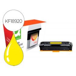 Toner compatible q-connect canon lbp611y i-sensys lbp610 amarillo alto rendimiento 2200 paginas
