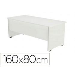 Mesa oficina rocada serie work 160x80 cm acabado aw04 blanco/blanco