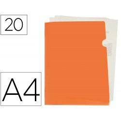 Carpeta liderpapel dossier u ero polipropileno din a4 naranja fluor opaco 20 hojas